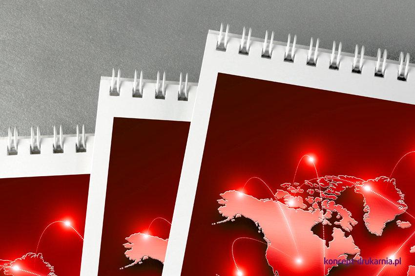 Kalendarze HORIZON w oprawie spiralowanej po długim boku.