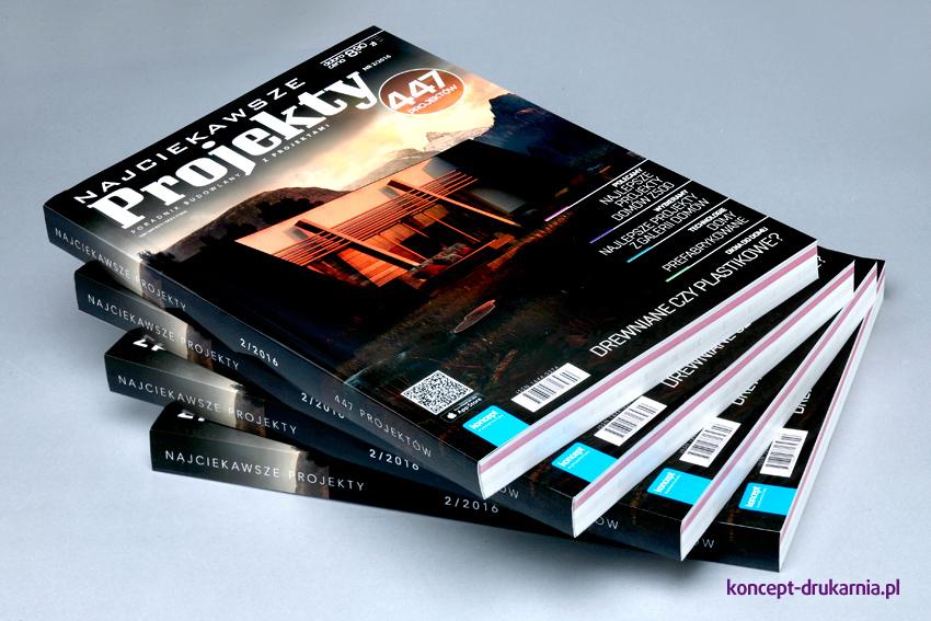 Okładki magazynu Najciekawsze Projekty wydrukowane na matowym papierze kredowym 350 g/m2.