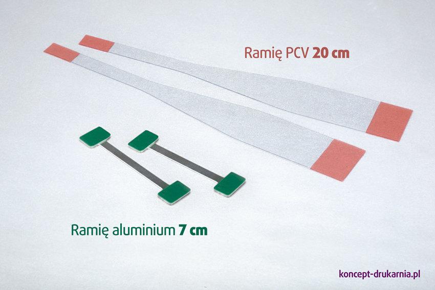 Oferujemy do wyboru 2 rodzaje ramion do wobblerów: przezroczysty kiwak PCV lub aluminiowy TWINSTICK.